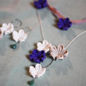 【ピアス&ネックレス】 春の風のアクセサリー