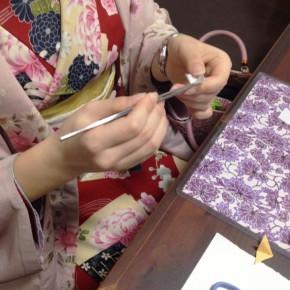 【京都つまみ細工体験レッスン】お客様の作品