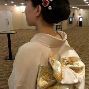 【お客様のお写真】 和花の髪飾り&ブローチ